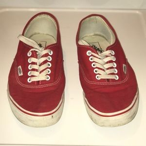 Vans Red and White Core Classic Men's 10